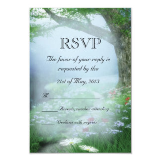 Bosque encantado del arbolado que casa RSVP Invitación 8,9 X 12,7 Cm