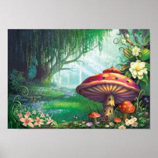 Bosque encantado póster