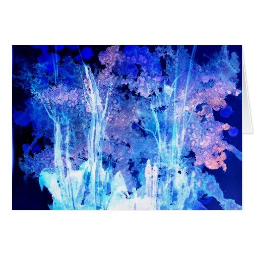 Bosque encantado tarjeta de felicitación
