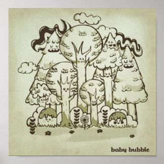 Bosque encantador póster