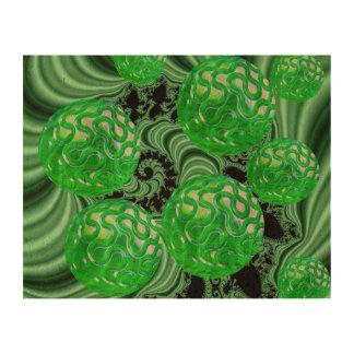 Bosque esmeralda del mar, océano verde abstracto impresión en corcho