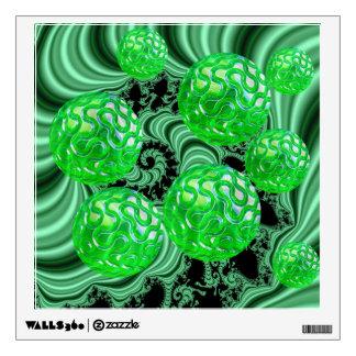 Bosque esmeralda del mar, océano verde abstracto vinilo