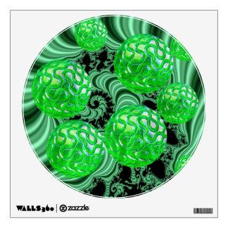 Bosque esmeralda del mar, océano verde abstracto vinilo adhesivo