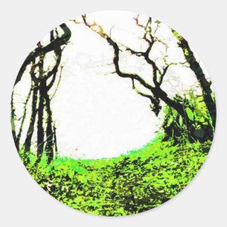 Bosque Etiqueta Redonda
