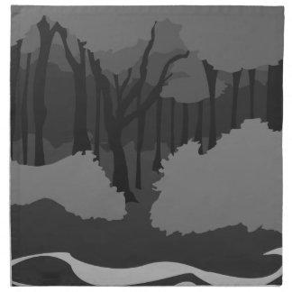 Bosque fantasmagórico servilletas de papel