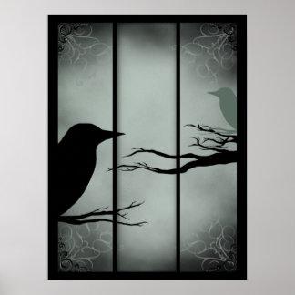 Bosque frecuentado gótico - invertido posters