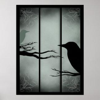Bosque frecuentado gótico póster