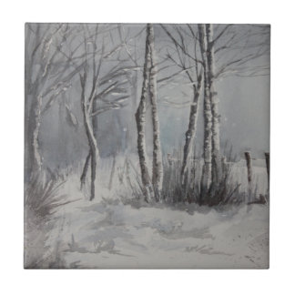 Bosque gris azulejo cuadrado pequeño
