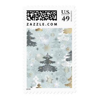 Bosque hivernal sellos