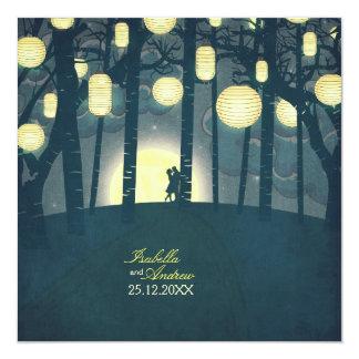 """Bosque ideal de las linternas del deseo invitación 5.25"""" x 5.25"""""""