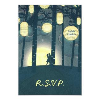 Bosque ideal de las linternas del deseo que casa invitación 8,9 x 12,7 cm