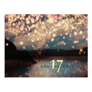 Bosque ideal de las linternas del deseo - tarjeta postal