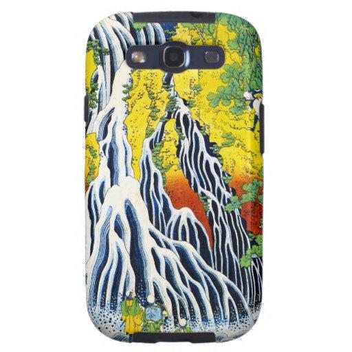 Bosque japonés oriental fresco AR de la cascada de Galaxy S3 Funda