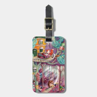 Bosque mágico etiqueta de maleta