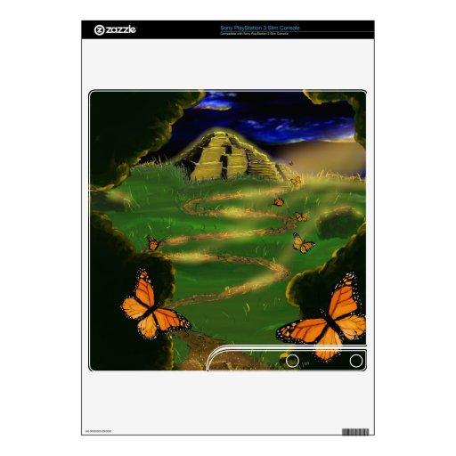 Bosque mágico skin para el PS3 slim