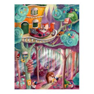 Bosque mágico postales