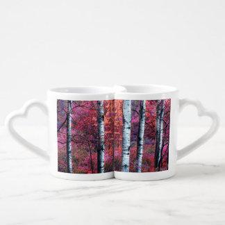 Bosque mágico taza para parejas