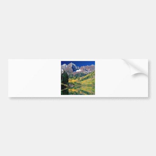 Bosque marrón Colorado de Belces el río Blanco del Pegatina De Parachoque