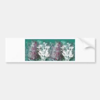 Bosque místico etiqueta de parachoque