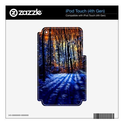 Bosque Nevado iPod Touch 4G Calcomanías
