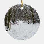 Bosque Nevado Ornamento Para Reyes Magos