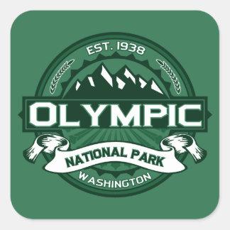 Bosque olímpico pegatina cuadrada
