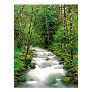 Bosque Oregon de Mckenzie Willamette del río Membrete Personalizado