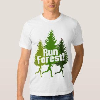 Bosque Outdoorsy divertido del funcionamiento Remera