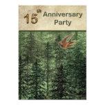 Bosque para la fiesta de aniversario 15 de los invitación 12,7 x 17,8 cm