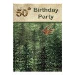 Bosque para la fiesta de cumpleaños de los árboles invitacion personalizada