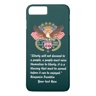 Bosque patriótico de la paz verde oscuro funda iPhone 7 plus