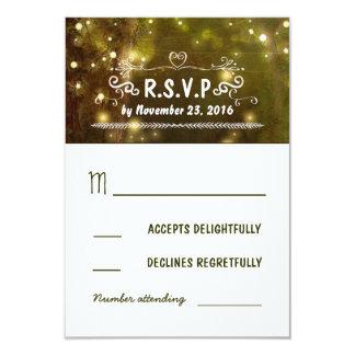 """bosque rústico encantado casando las tarjetas de invitación 3.5"""" x 5"""""""