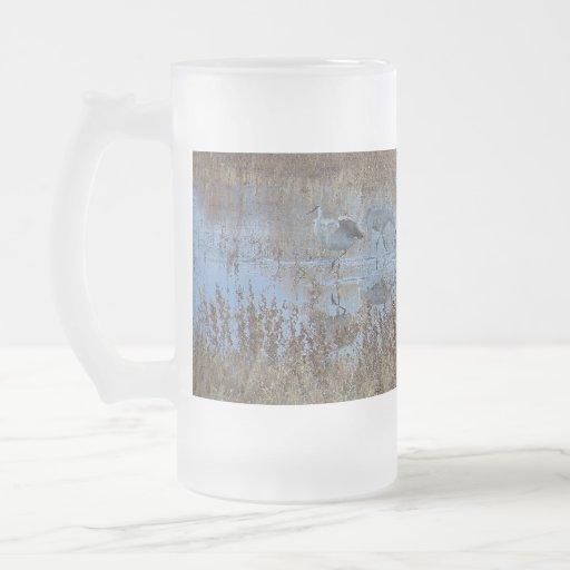 Bosque Sandhill Cranes la taza
