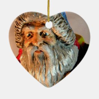 Bosque Santa V Adorno Navideño De Cerámica En Forma De Corazón