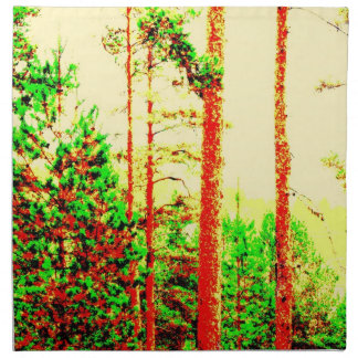 Bosque soleado servilletas