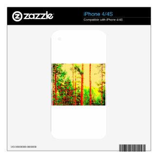 Bosque soleado skins para eliPhone 4