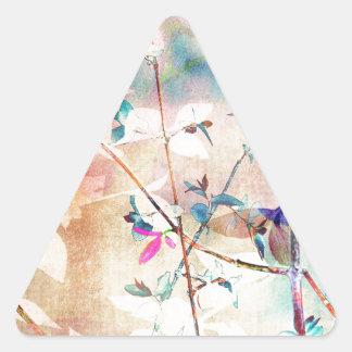 Bosque soñador pegatina triangular