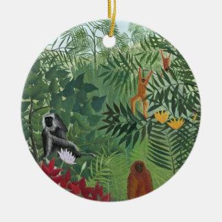 Bosque tropical con Monkeys, 1910 (aceite en lona) Ornatos