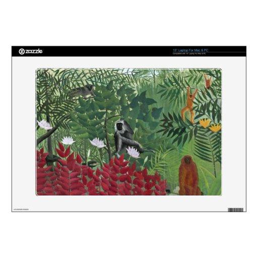 Bosque tropical con Monkeys, 1910 (aceite en lona) Portátil Skin