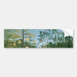 Bosque tropical, Henri Rousseau Etiqueta De Parachoque