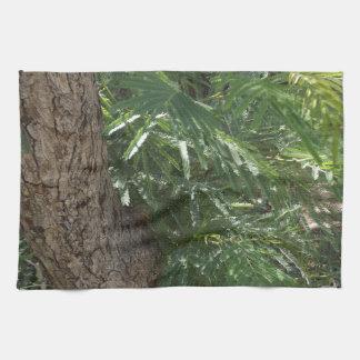 Bosque tropical toalla de cocina