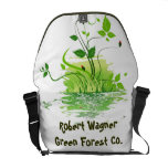Bosque verde bolsa messenger