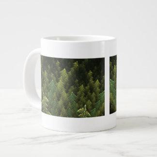 Bosque verde taza grande