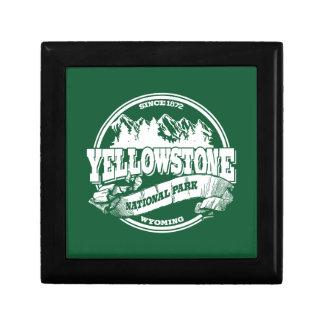 Bosque viejo del círculo de Yellowstone Joyero Cuadrado Pequeño