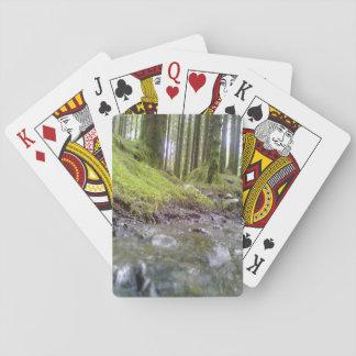 Bosque y agua baraja de cartas