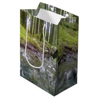 Bosque y agua bolsa de regalo mediana