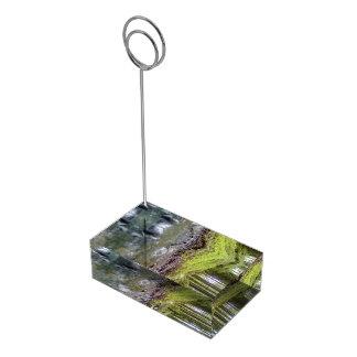 Bosque y agua soportes de tarjeta de mesa