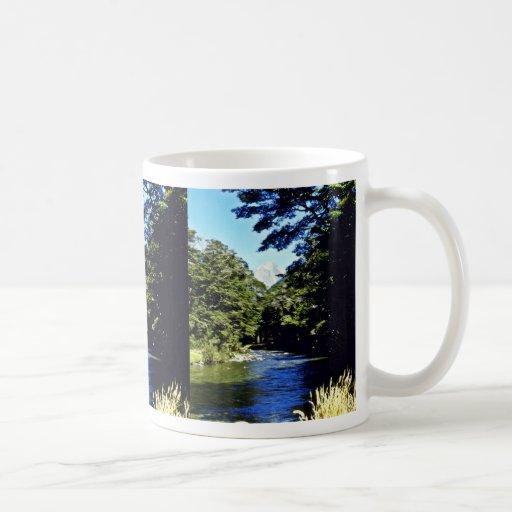 Bosque y río, PA nacional de aspiración de la haya Tazas De Café