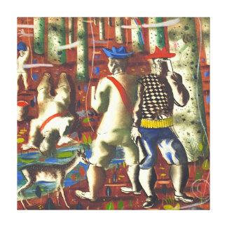 Bosquejo 1941 de la entrada del bosque impresión en lienzo estirada
