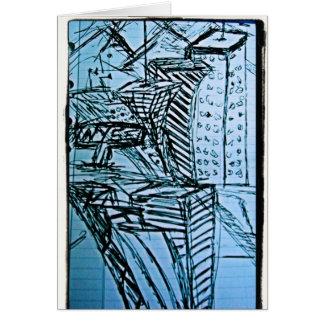 bosquejo 2 del nyse tarjeta de felicitación